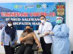 Dukung Program Vaksinasi Pempus, Sebanyak 683 Personel Polres Maros Siap Divaksin