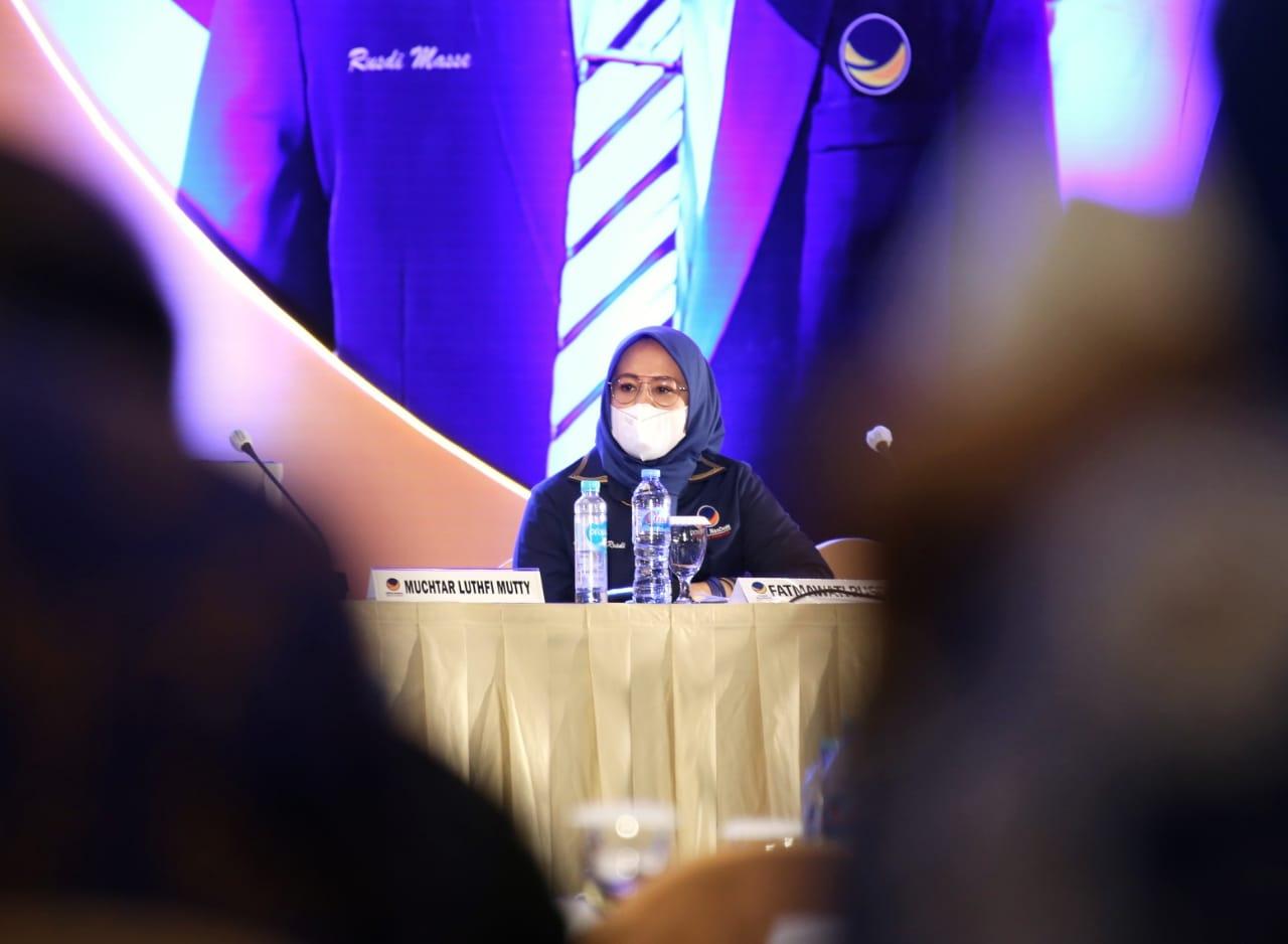Berbagi Tips soal Pengelolaan dan Pendanaan Partai, Fatma Jadi Pembicara di Rakorwil NasDem