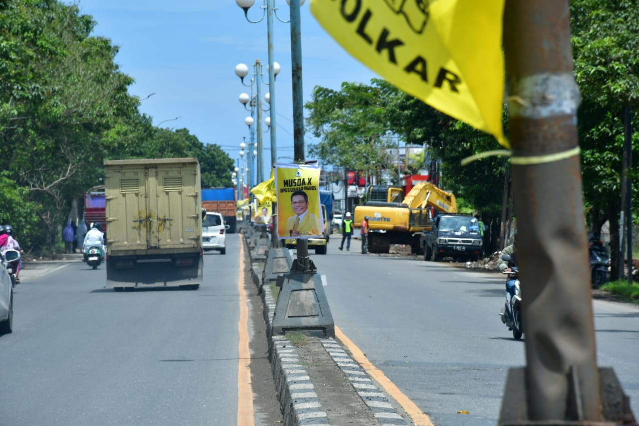 Musda Golkar, Banner Airlangga Hartarto-Taufan Pawe Hiasi Maros hingga Batas Makassar