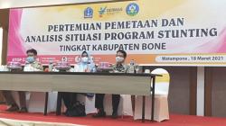 Dinas Kesehatan Kabupaten Bone, menggelar pertemuan Analisis Situasi Stunting