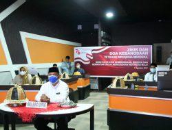 Wabup Soppeng Hadiri Zikir dan Doa Kebangsaan 76 Tahun Indonesia Lewat Virtual