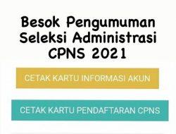 Besok Pengumuman Seleksi Administrasi CPNS 2021, Begini Cara Pengecekannya