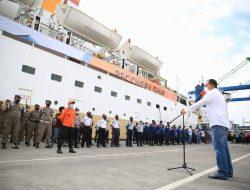 Pemkot Makassar Gelar Simulasi Akhir Sebelum Peluncuran Isolasi Apung di KM Umsini
