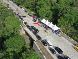 Telan Rp6,4 Miliar, Jembatan Sungai Bangkae Sidrap Diresmikan Plt Gubernur Sulsel