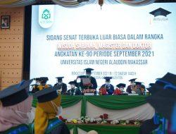 Di Hadapan Wisudawan Angkatan 90, Rektor UIN Alauddin Berpesan: Jadilah Alumni Positif
