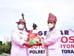 HUT Ke-64 Tana Toraja, Plt Gubernur Sulsel Apresiasi Gebyar Bansos Gotong Royong
